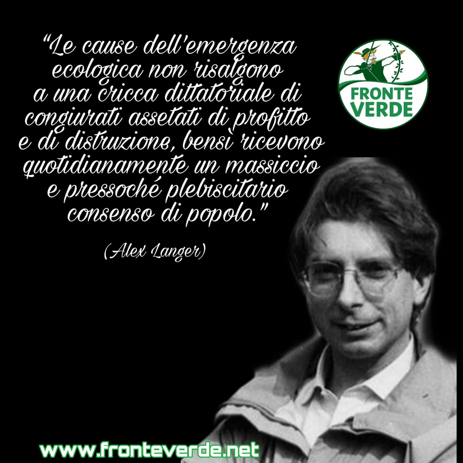 """Vincenzo Galizia: """"Alex Langer un esempio per tutti gli ecologisti"""""""