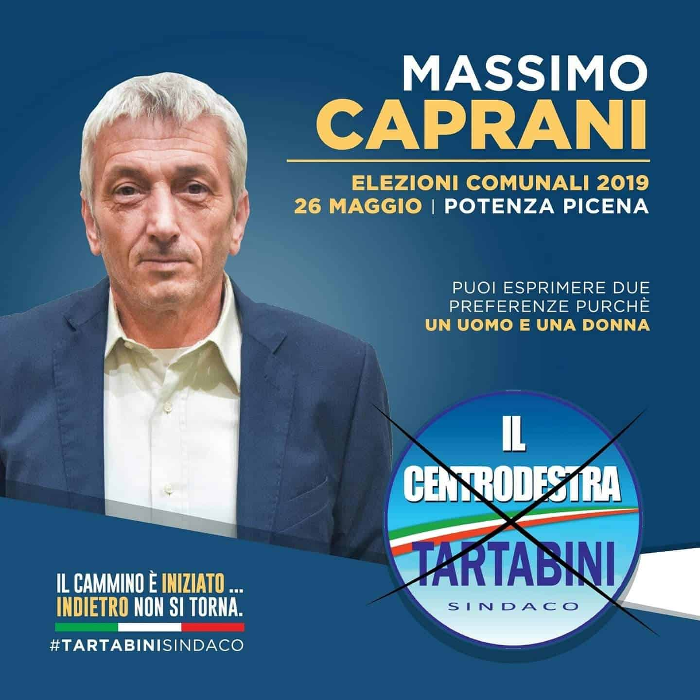 Potenza Picena, Massimo Caprani (Fronte Verde) candidato consigliere