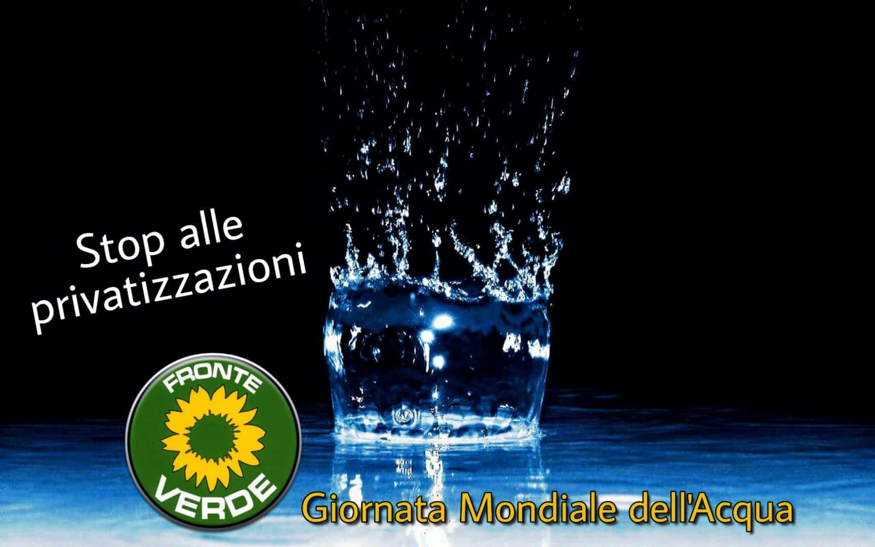"""Giornata Mondiale dell'acqua, il 'Fronte Verde Ecologisti Indipendenti': """"anche quest'anno non si è deciso nulla. L'acqua è un diritto"""""""