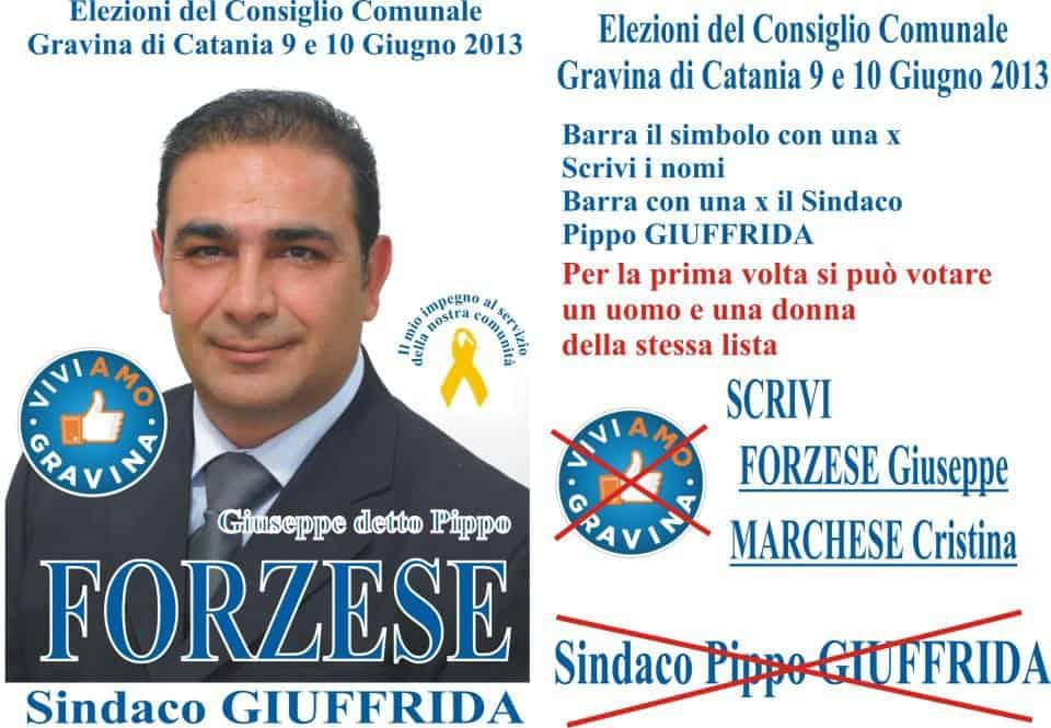 A Gravina (CT), 'Fronte Verde' vota Forzese e Marchese