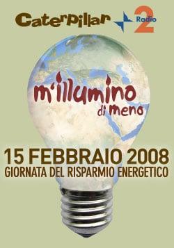 """Fronte Verde aderisce a """"M'illumino di meno 2008"""""""