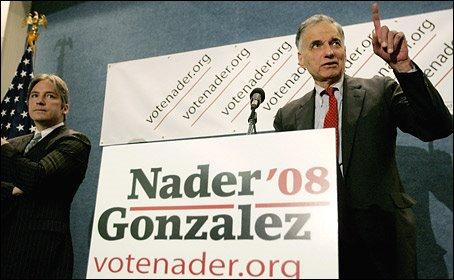Presidenziali USA, 'Fronte Verde' sostiene il terzo incomodo Ralph Nader