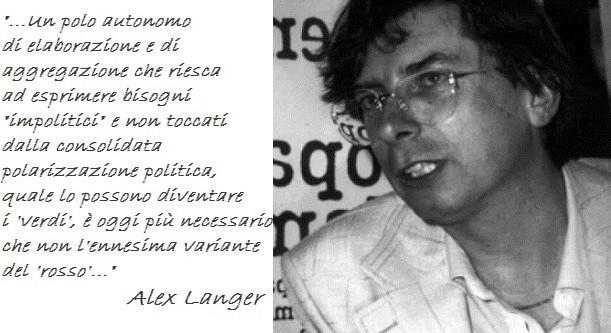 'Fronte Verde' ricorda Alex Langer a vent'anni dalla sua scomparsa