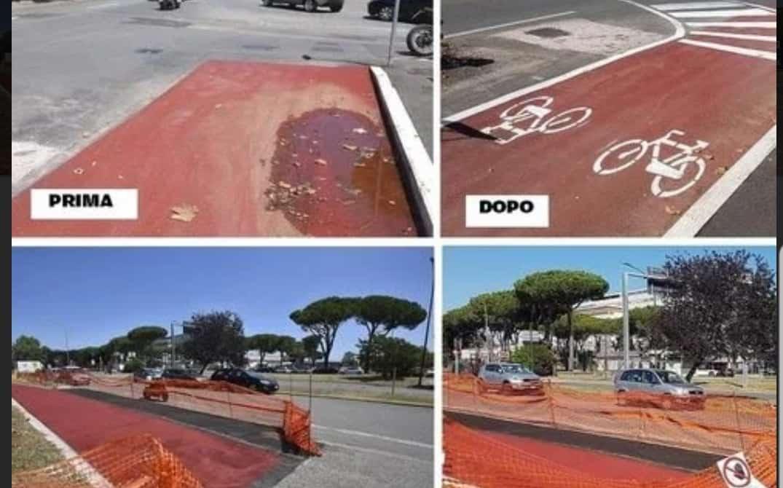 Grosseto, Fronte Verde sulla pista ciclabile di Roselle