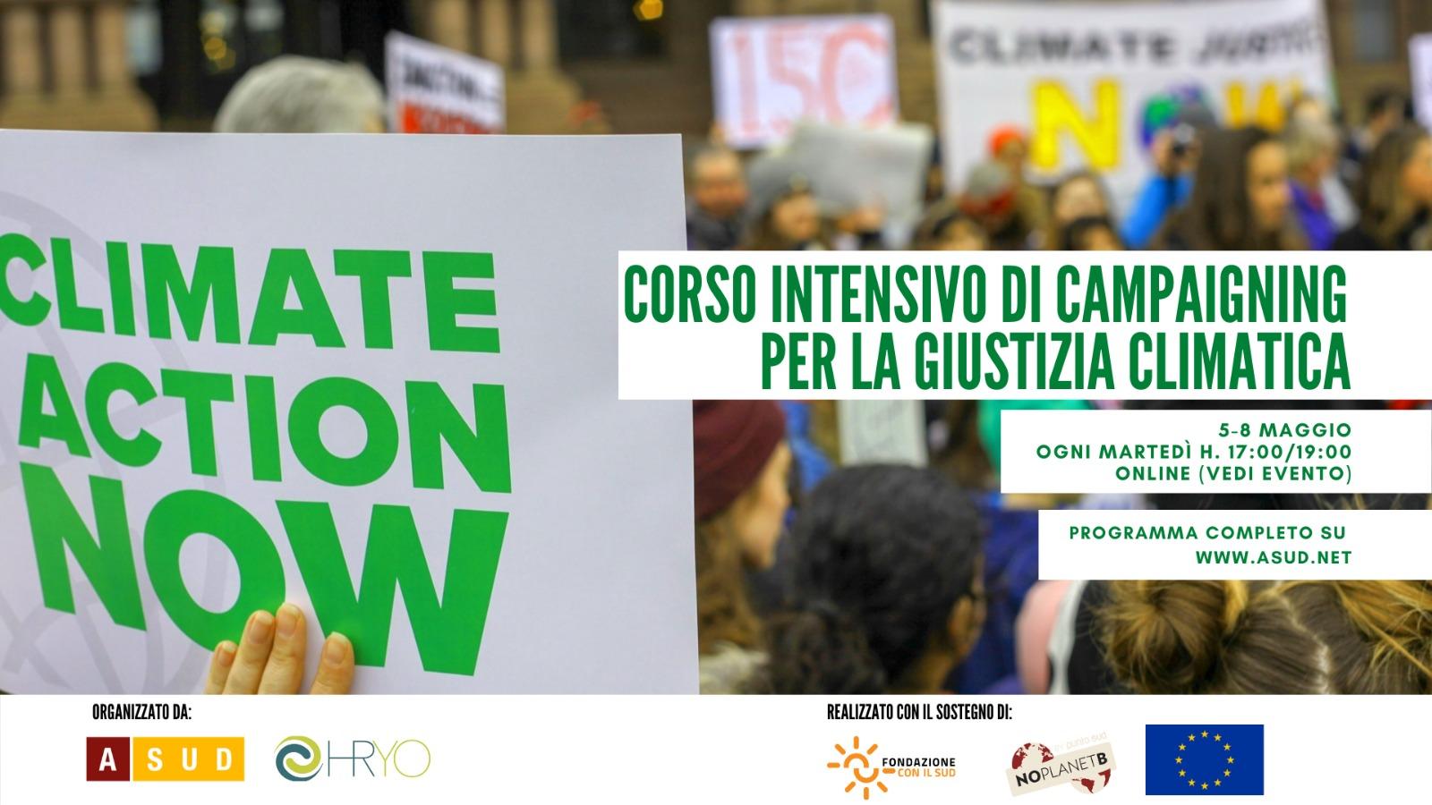 Corso intensivo di campaigning sui cambiamenti climatici