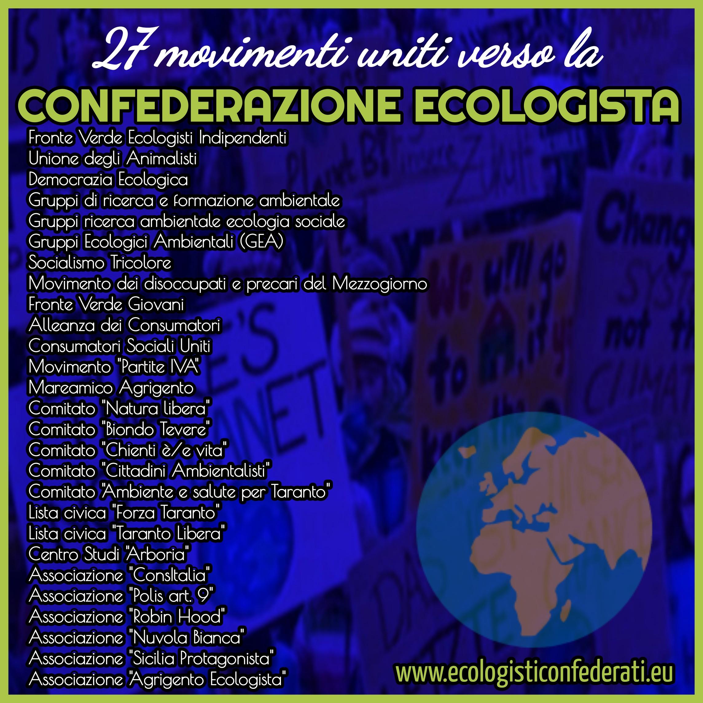 27 sigle per la Confederazione Ecologista