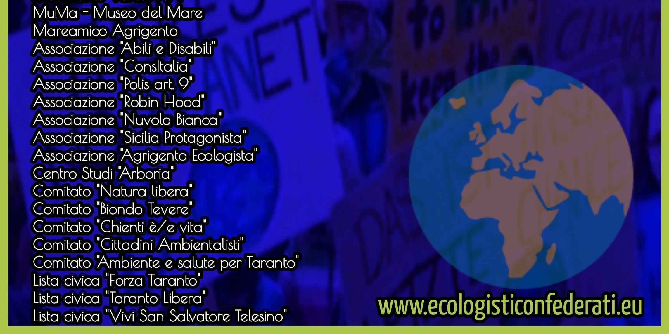 La Confederazione Ecologista sale a 30 Movimenti
