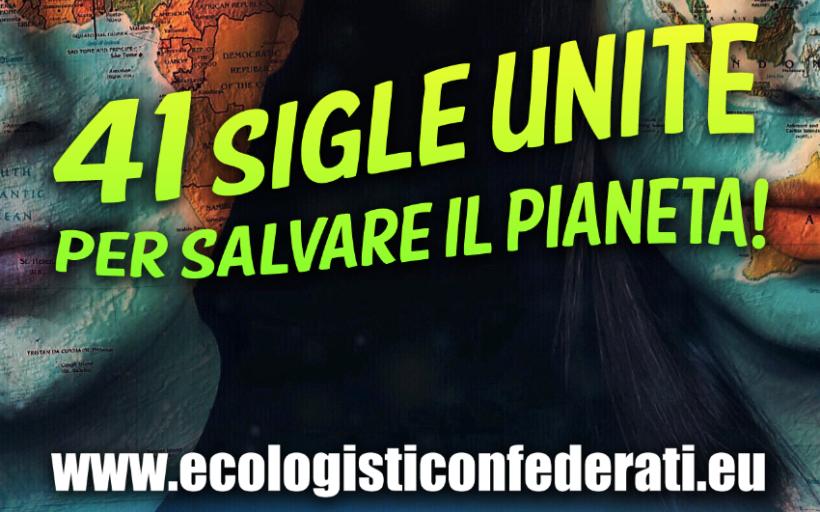 Domenica 6 dicembre nasce 'Ecologisti Confederati'